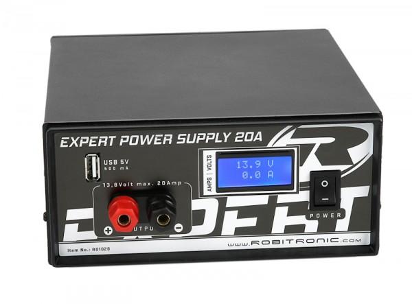 Expert Schaltnetzteil 20A, LCD, USB