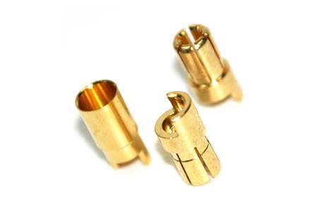 Rockamp Goldkontakt Stecker 5,5mm (ohne Schrumpfschlauch)