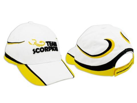 Scorpion Cotton Basecap Weiss/Gelb