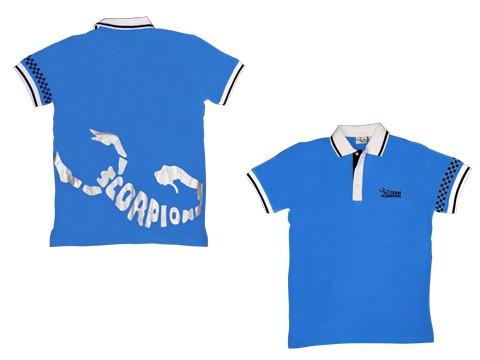 Scorpion Polo Shirt (Blue-S)