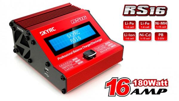 SkyRC Ladegerät Racing Star RS16 DC LiPo 1-6s 16Amp 180W