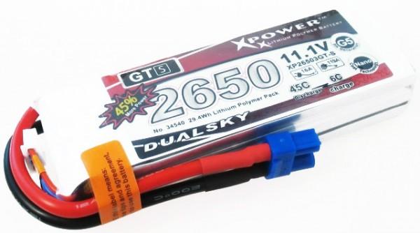 Dualsky GT-S 45C 2650mAh 22,2V Lipo Akku