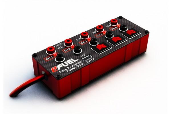 SkyRC Verteilerbox Efuel Power Strip mit Schalter und USB Ausgang