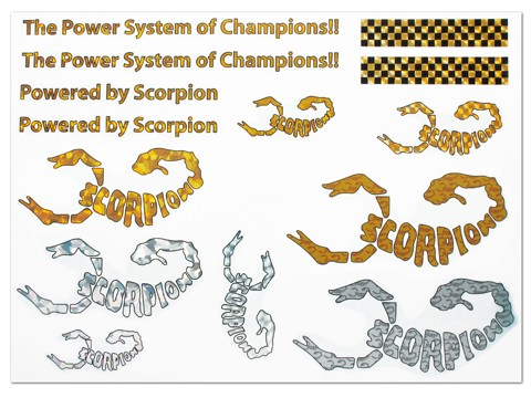 Scorpion Water Slide Decal 001 - A4