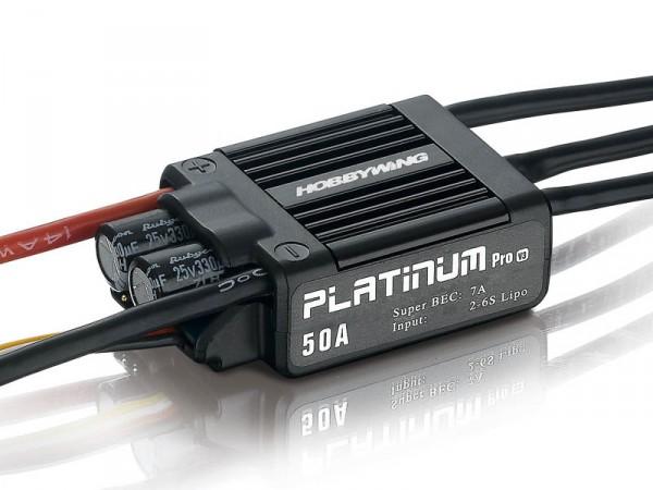 Platinum Pro 50A 2-6s BEC 7A für 450 Heli 3D und .50 Flieger