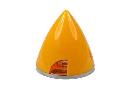 Irvine Aluminium 2-Blatt Spinner 70mm gelb
